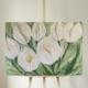 schilderij getiteld witte tulpen