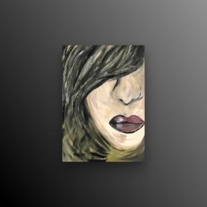 Schilderij getiteld lippen